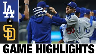 Dustin May, AJ Pollock Lead Comeback Win | Dodgers-Padres Game Highlights 8/4/20