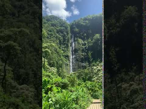 different view of the waterfall