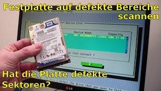 Festplatte auf defekte Sektoren scannen