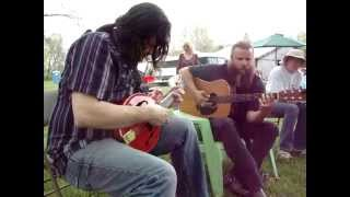 Me & Jamey Johnson  at Wesley Probst backyard funeral gathering