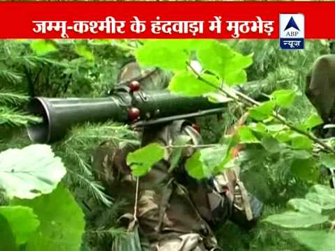 Watch live encounter in Jammu and Kashmir, three  terrorists killed
