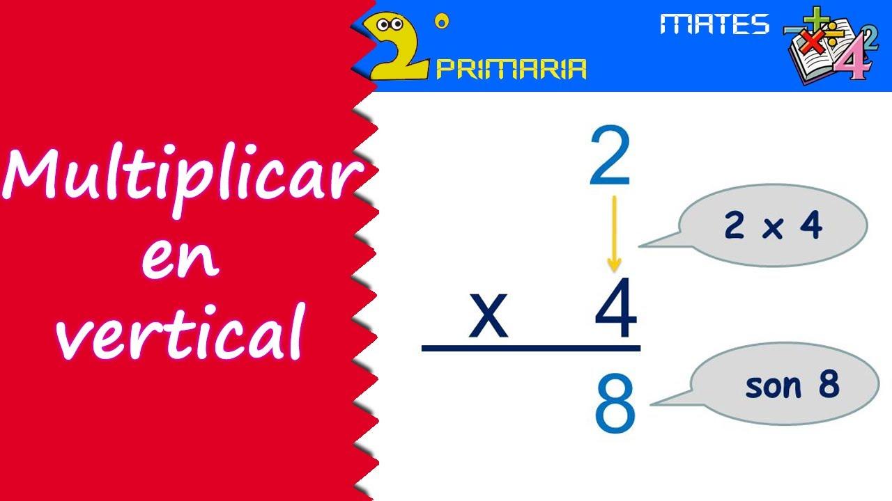 Mate, 2º Primaria. Tema 10. Multiplicaciones en vertical