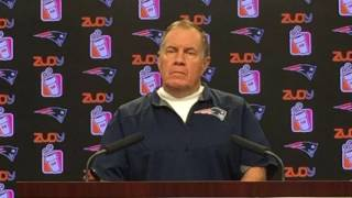 "Bill Belichick responds to ""awesome"" Butt Fumble question"