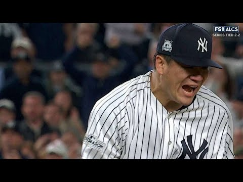 ALCS Gm5: Tanaka whiffs Reddick, leaves two on in 5th