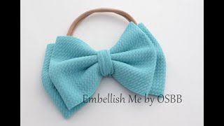 How To Make A Double Stack Fabric Hairbow With Unfinished Edge