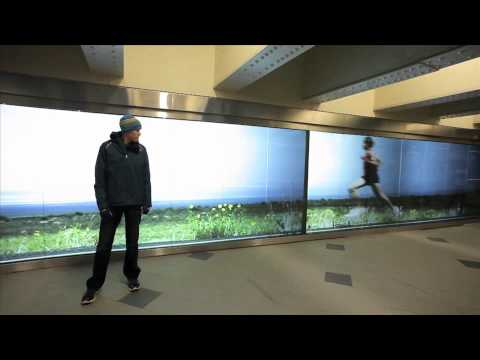 Giant Video Wall Lets You Get Smoked By A Marathoner