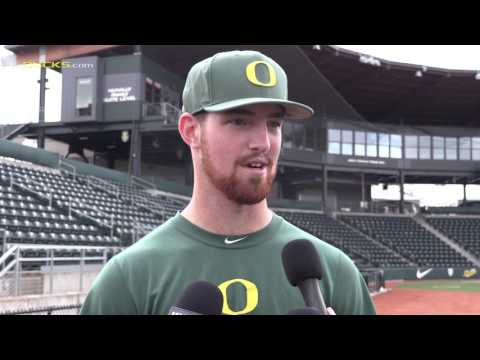 Connor Zwetsch With Oregon Baseball Talks Pitching