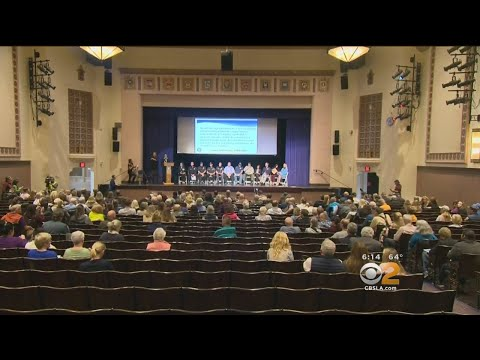 Community Meets To Discuss Mudslide Recovery Process