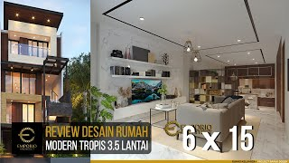 Video Desain Rumah Modern 3.5 Lantai Bapak Doddy di  Jakarta Utara