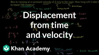 Displacement from Time and Velocity Example