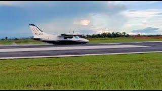 Avião de senador faz pouso forçado em Ji-Paraná- PT-JGA