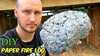 How to Make Paper Fire Log?