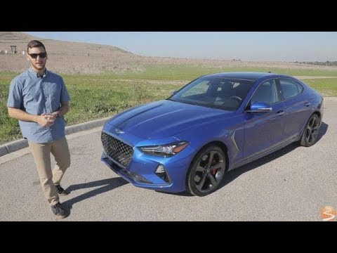 2019 Genesis G70 3.3T Dynamic RWD Test Drive Video Review