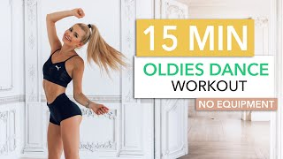 15 MIN OLDIES DANCE WORKOUT - Burn Calories To 90s And 80s Hits / No Equipment I Pamela Reif