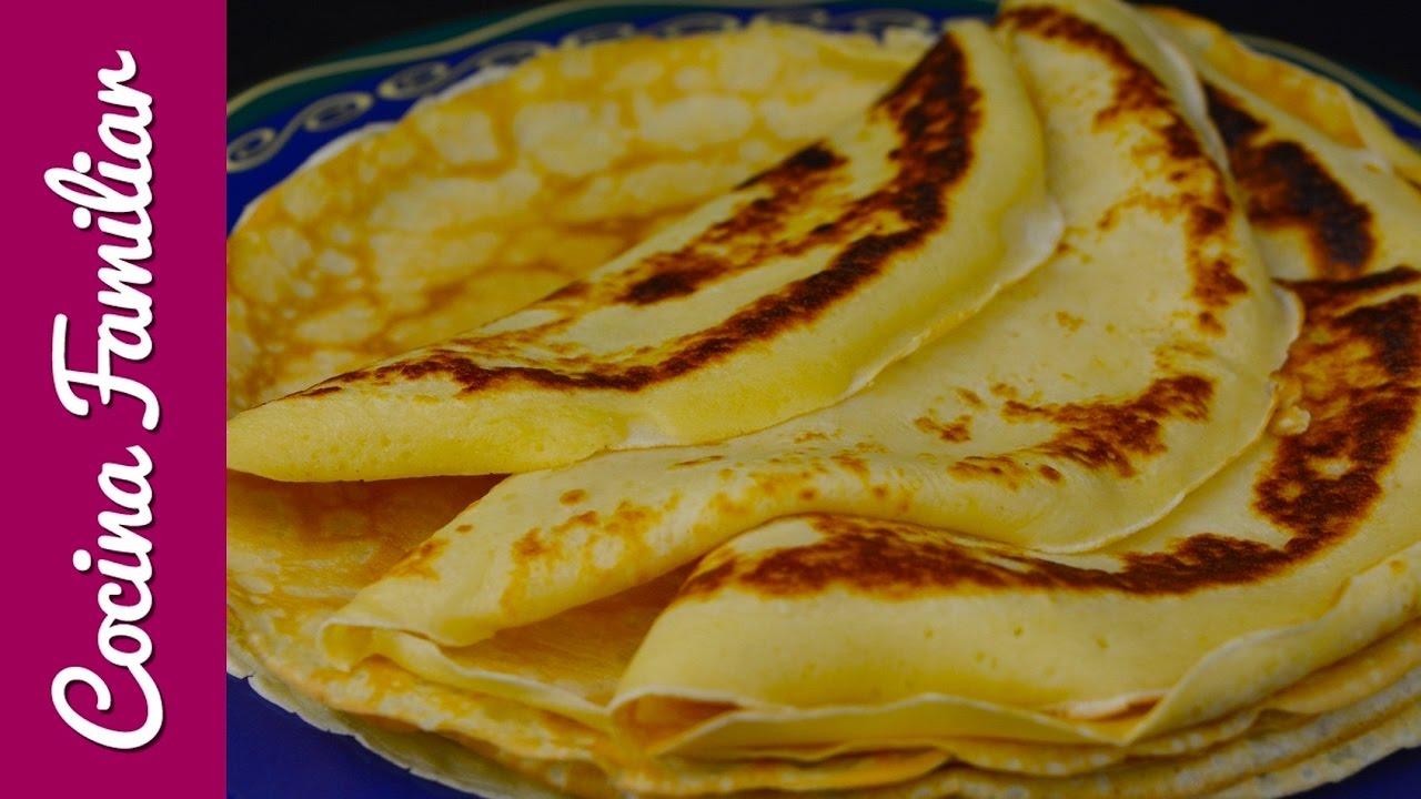 Como hacer crepes, receta muy fácil | Javier Romero
