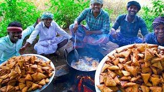 SAMOSA   Street Samosa Recipe   Healthy South Indian Potato Onion Crispy Samosa Cooking In Village