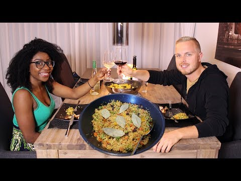 COOKING JACK'S  FAVORITE DISH || NIGERIAN FRIED RICE & RIPE PLANTAIN