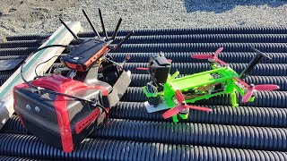 3D printed FPV drone test