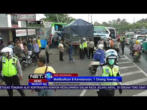 Tabrakan Beruntun di Tangerang 1 Orang Tewas NET24