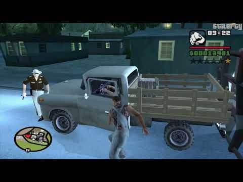 GTA San Andreas - CJ Talks To People In The Counties