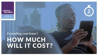 How much does extending your property lease cost?