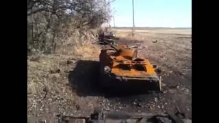 Разбитая колонна 92 бригады ВСУ - Войково - конец августа 2014