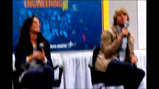 Daniela Ruah and Eric Olsen at the Science fest in DC (funny)