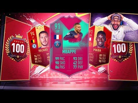 OMG YES! I GOT MBAPPE! TOP 100 REWARDS! FIFA 19 Ultimate team RTG