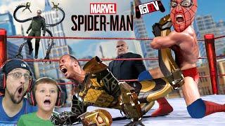 SPIDERMAN BEAT UP ALL THE BAD GUYS YEAH! (FGTeeV Marvel Spiderman PS4)