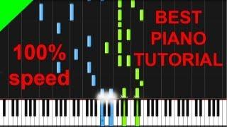 Scott Joplin - The Entertainer full version piano tutorial