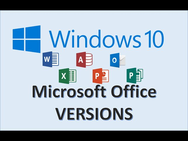 Windows 10 Office Versions How To Check Ms Microsoft Version Is On Your Computer Pc Tutorial