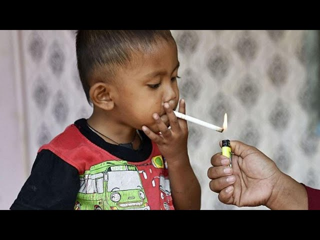 Toddler Chain Smokes Through 2 Packs Of Cigarettes A Day