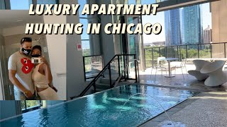 Apartment Hunting! Downtown Chicago PENTHOUSES 12k a month 😭!