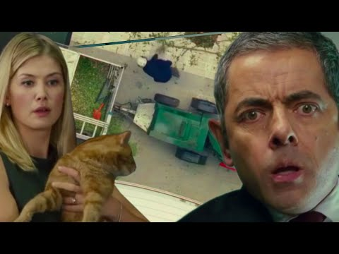 Cat DISASTER   Johnny English   Funny Clips   Mr Bean Comedy