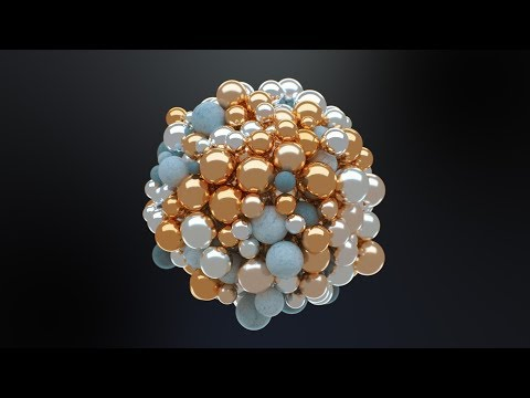 C4D Abstract Spheres – Cinema 4D Tutorial (Free Project)