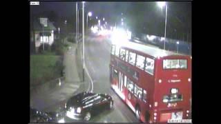 Hit and Run Car Crash CCTV Romford UK