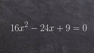 Learn how to solve a quadratic equation by factoring a perfect square trinomial