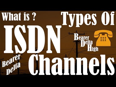 ISDN Channel | Channel B | Channel D | Channel H | T1 | E1 | Types of H channel | Hindi