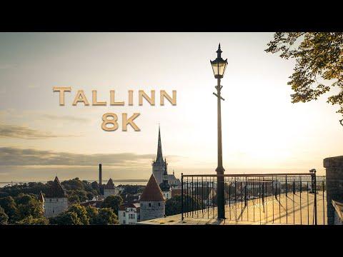 סרטון המציג את טאלין הקסומה באיכות 8K