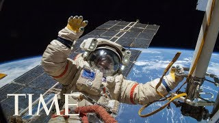 Watch Two Cosmonauts Taking A Spacewalk: The ISS Expedition 54 Russian Spacewalk 44 | TIME