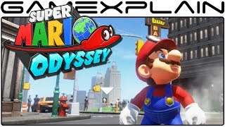 Super Mario Odyssey - Full Tour of New Donk City's Streets & Inspecting the Brochure (Direct Feed)