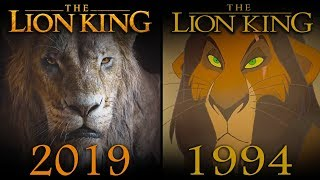 LION KING (2019 Vs 1994) Official Trailer Comparison SHOT BY SHOT
