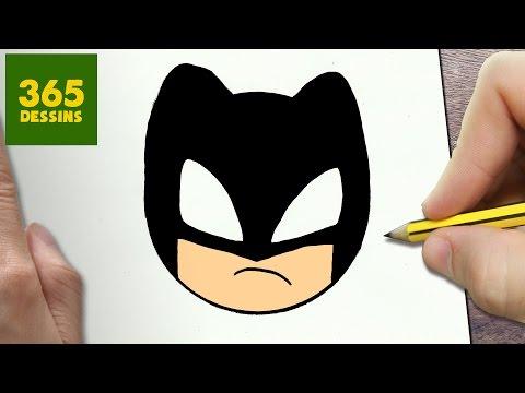 Comment Dessiner Batman Kawaii étape Par étape Dessins