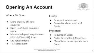Offshore Bank Account   Be Careful Where You Open It