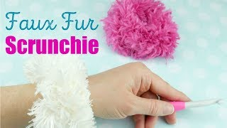 How To Crochet A Faux Fur Scrunchie