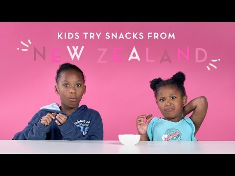 Kids Try Snacks From New Zealand
