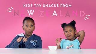 Kids Try Snacks From New Zealand | Kids Try | HiHo Kids