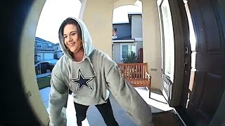 RAW: Surveillance Video Captures Thief Stealing Packages From Pittsburg Home