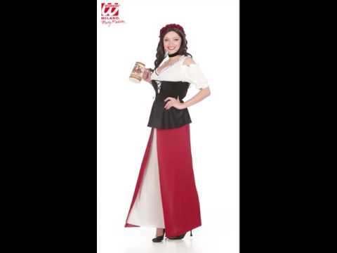 Disfraz de tabernera medieval adulta