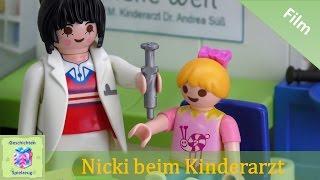 Playmobil Film Deutsch NICKI WIRD GEIMPFT – BEIM KINDERARZT ♡ Playmobil Geschichten Familie Miller
